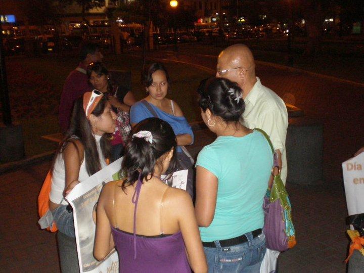 Campaña de concienciación de la autolesión en  Mexico D.F. – Mexico mañana 1 de Marzo dia de la autolesión