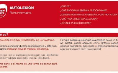 Ficha informativa de Autolesión para población joven