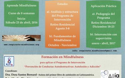 Formación mindfulness – Prevencion de conductas autodestructivas: autolesion y adicción